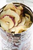 Очень вкусные высушенные яблоки Стоковое Фото