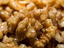 Очень вкусные грецкие орехи с медом Стоковое фото RF
