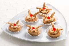 Очень вкусные декоративные печенья лакомки Стоковые Изображения RF