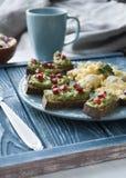 Очень вкусные здоровые завтрак и кофе Стоковые Фото