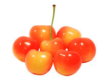Очень вкусные зрелые вишни Стоковая Фотография RF