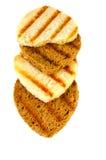 Очень вкусные здравицы белого и черного хлеба Стоковое Изображение RF