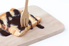 Очень вкусные здравицы с сиропом шоколада Стоковое Изображение