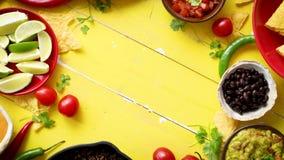 Очень вкусные ингредиенты Carne жулика чилей ждать быть подготовленным видеоматериал