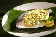 Очень вкусные испеченные испаренные рыбы Parsi Стоковое фото RF