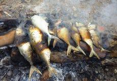Очень вкусные, который курят рыбы Стоковые Изображения RF