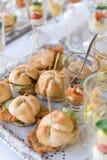 Очень вкусные мини сандвичи Стоковые Фото