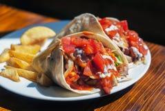 Очень вкусные обручи Tortilla цыпленка Стоковые Фотографии RF