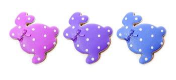 Очень вкусные печенья на белой предпосылке зайчик пасха Стоковые Фотографии RF