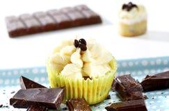 Очень вкусные пирожные шоколад-ванили Стоковые Изображения