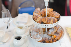 Очень вкусные плюшки, который служат для завтрака Стоковое Изображение