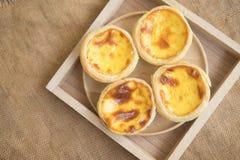 Очень вкусные свеже испеченные пироги яичка Стоковое фото RF