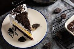 Очень вкусные вкусные свежие печенья и сливк испекут, сладостное desse хлебопекарни Стоковая Фотография RF