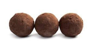 Очень вкусные сырцовые трюфеля шоколада стоковое фото rf