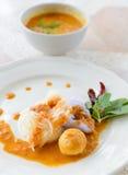 Очень вкусные тайские food.KaNom jeen лапши стоковая фотография