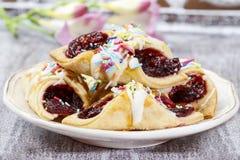 Очень вкусные торты заполненные с мармеладом стоковое фото