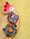 Очень вкусные торты с шоколадом и вишней Стоковая Фотография RF
