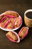 Очень вкусные трюфеля шоколада с чаем Стоковая Фотография RF