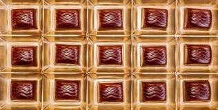 Очень вкусные шоколады в подарочной коробке Стоковые Фотографии RF