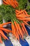 Очень вкусные яркие моркови Стоковое Изображение