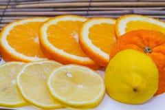 Очень вкусный апельсин и лимон Стоковое Изображение
