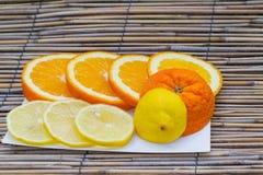 Очень вкусный апельсин и лимон Стоковые Изображения RF