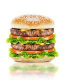 Очень вкусный большой бургер Стоковые Фото