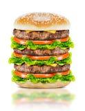 Очень вкусный большой бургер Стоковая Фотография