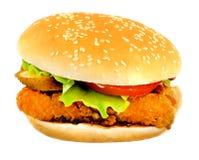 Очень вкусный большой бургер Стоковое Изображение