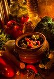 Очень вкусный вегетарианская еда стоковое фото