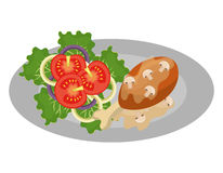 Очень вкусный график еды и гастрономии изолировал плоский дизайн Стоковое Фото