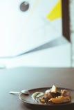 Очень вкусный десерт от груш карамельки Стоковые Фото