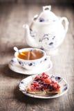 Очень вкусный десерт пирога плодоовощ Стоковая Фотография