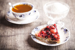 Очень вкусный десерт пирога плодоовощ Стоковое фото RF