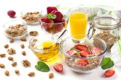 Очень вкусный завтрак на таблице Стоковая Фотография RF