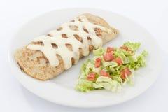 Очень вкусный завтрак-обед буррито сосиски Стоковая Фотография RF