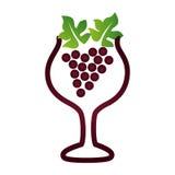 Очень вкусный значок виноградины вина иллюстрация штока