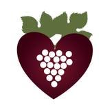 Очень вкусный значок виноградины вина бесплатная иллюстрация