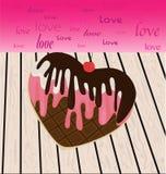 Очень вкусный и неотразимый, в форме сердц печенье мороженого Стоковые Фото