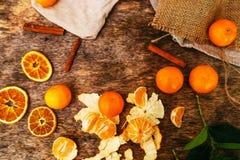 Очень вкусный мандарин Стоковое Изображение