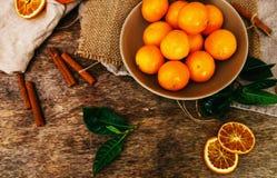 Очень вкусный мандарин Стоковое Изображение RF