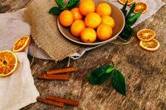 Очень вкусный мандарин Стоковые Изображения