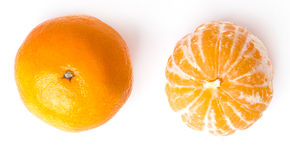 Очень вкусный мандарин Стоковое Фото