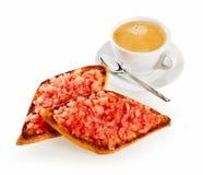 Очень вкусный мексиканский региональный зажаренный tostada Стоковое Изображение RF