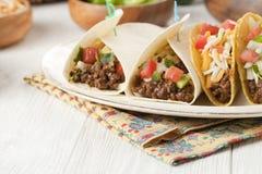 Очень вкусный мексиканский tacos Стоковые Изображения