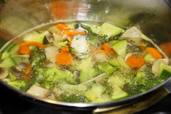 Кипя овощи Стоковое Фото