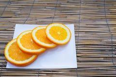 Очень вкусный отрезанный апельсин Стоковое фото RF
