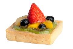 Очень вкусный, пирог клубники, ананас, киви, оранжевые голубики, w Стоковые Фото