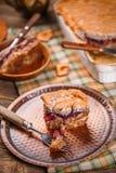Очень вкусный пудинг хлеба Стоковые Фото