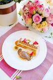 Очень вкусный ресторан десерта мороженого Стоковая Фотография RF